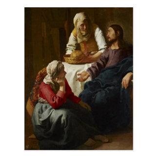 Jésus à la maison de Mary et de Martha Carte Postale