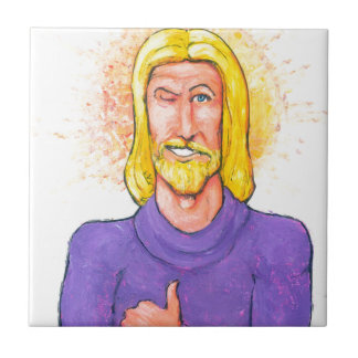 Jésus approuve petit carreau carré