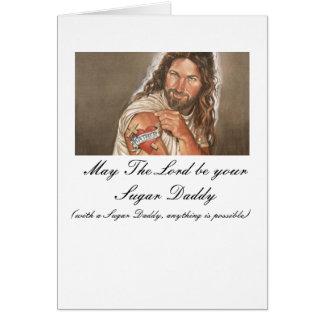 Jesus-art-007, mai le seigneur soit votre papa cartes de vœux