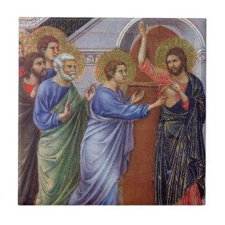 Jésus avec Thomas et apôtres c1311 Petit Carreau Carré