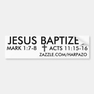 JÉSUS BAPTISE AUTOCOLLANT POUR VOITURE