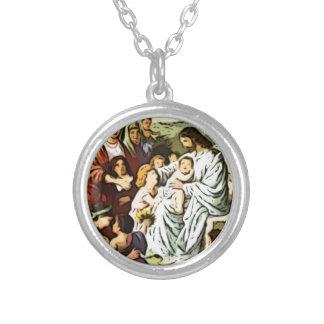Jésus bénissant les enfants collier