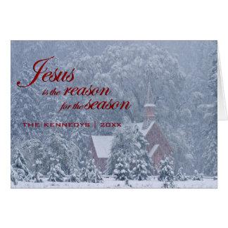 Jésus cette saison - chapelle de Yosemite dans la Carte De Vœux
