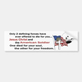 Jésus-Christ et version de soldat américain la Autocollant De Voiture