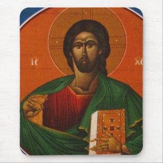 JÉSUS-CHRIST ORTHODOXE GREC D'ICÔNE TAPIS DE SOURIS