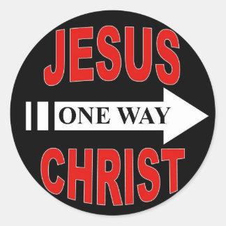 Jésus-Christ une manière Adhésifs Ronds