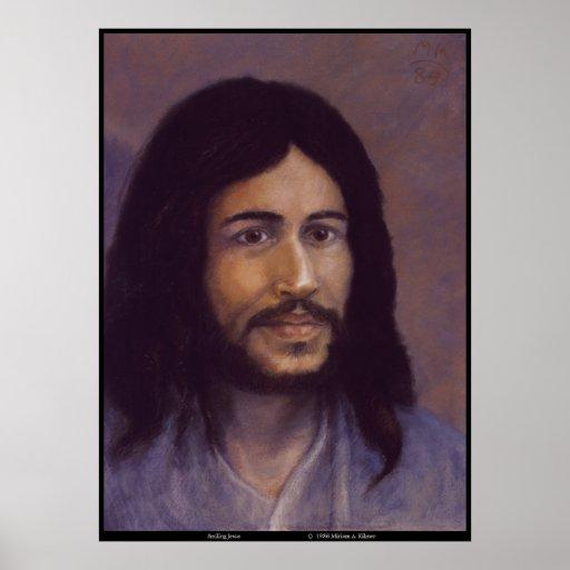 Jésus de sourire, image juive de Jésus Poster