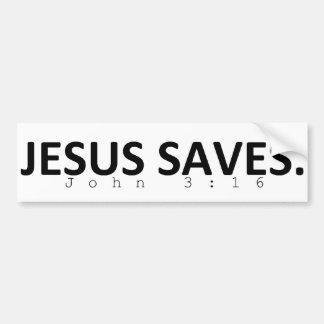 Jésus économise autocollant de voiture