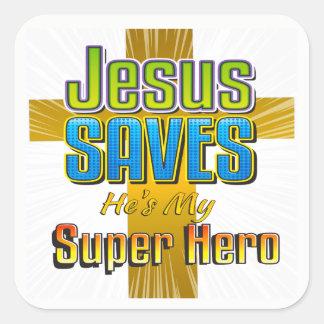 Jésus économise - il est mes autocollants de carré