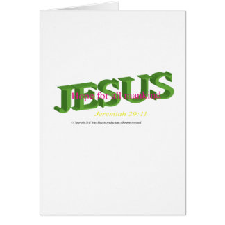 Jésus est des cartes de voeux d'espoir