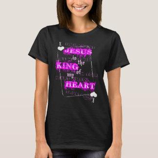 Jésus est le roi de mon coeur t-shirt