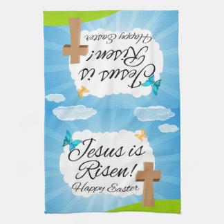 Jésus est levé, Pâques chrétienne Serviette Éponge