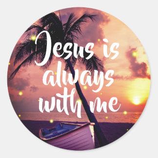 Jésus est toujours avec moi les autocollants