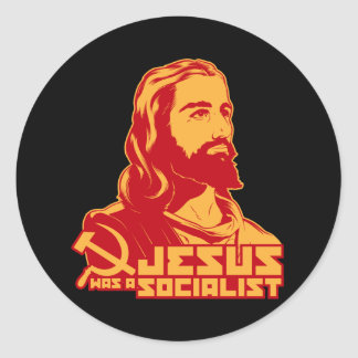 Jésus était un socialiste sticker rond