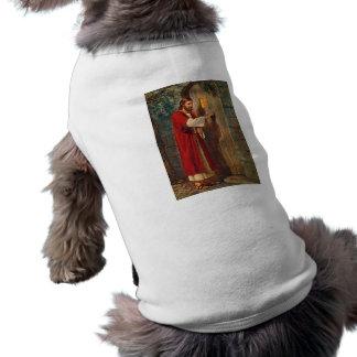 Jésus frappe sur la porte t-shirt pour chien