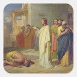 Jésus guérissant le lépreux, 1864 sticker carré