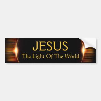 Jésus, la lumière du monde autocollant de voiture