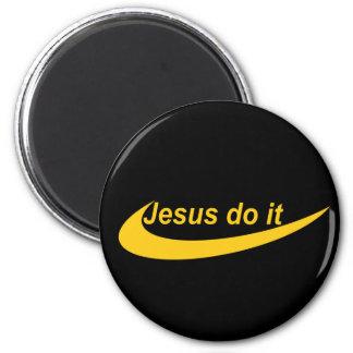 Jésus le font Jaune Magnet Rond 8 Cm