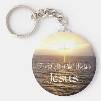 Jésus-Lumière du monde Porte-clé Rond