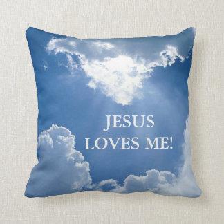 Jésus m'aime coussin