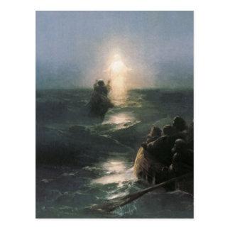 Jésus marchant sur l'eau, peinture d'Ivan Cartes Postales