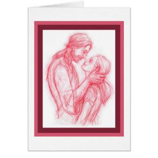 Jésus me regardant carte de voeux