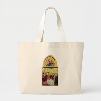 Jésus monte un UFO Grand Tote Bag