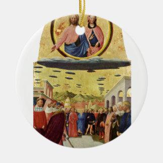 Jésus monte un UFO Ornement Rond En Céramique