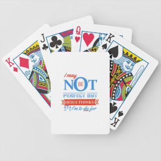Jésus pense que je dois mourir pour cartes à jouer