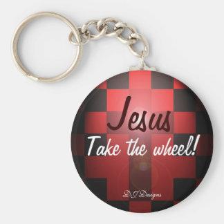 Jésus prennent le porte - clé de roue porte-clé rond