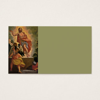 Jésus ressuscité au-dessus de sa tombe cartes de visite