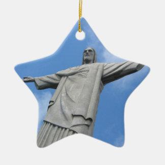 Jésus Rio Ornement Étoile En Céramique