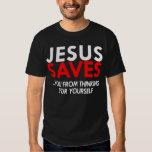 Jésus sauve la chemise des hommes t-shirts