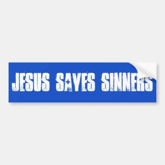 Jésus sauve l'adhésif pour pare-chocs de pécheurs autocollant pour voiture