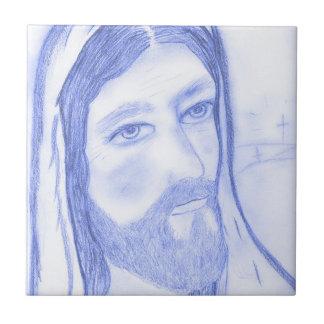 Jésus sérieux petit carreau carré
