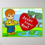 Jésus vous aime ! affiches