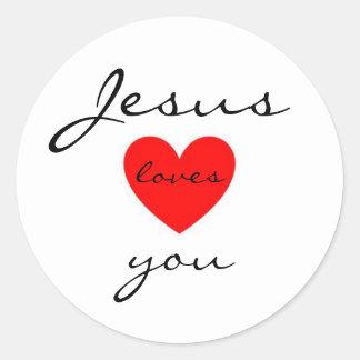 Jésus vous aime autocollant