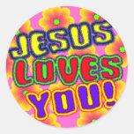 Jésus vous aime ! Autocollant