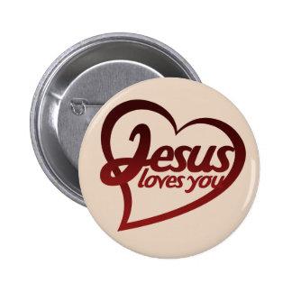 Jésus vous aime badges
