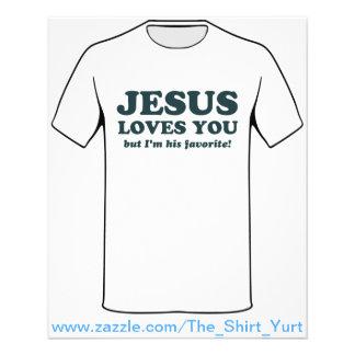 Jésus vous aime mais je suis son favori prospectus 11,4 cm x 14,2 cm