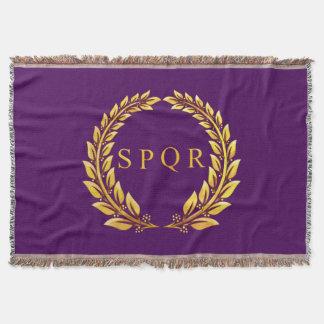Jet impérial romain de SPQR Couvre Pied De Lit