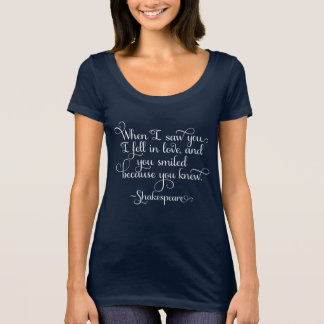 J'étais amoureux, et vous avez souri - Shakespeare T-shirt