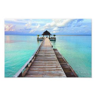 Jetée de sérénade des Maldives Photographie