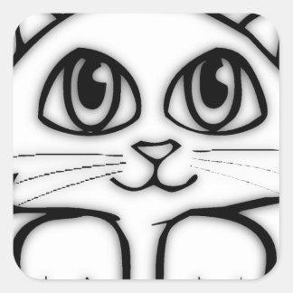 Jeter un coup d'oeil le chaton sticker carré