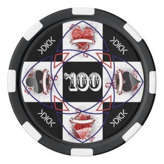Jeton de poker de KDICK $100