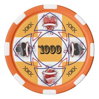 Jeton de poker de KDICK $1000