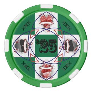 Jeton de poker de KDICK $25 Jetons De Poker