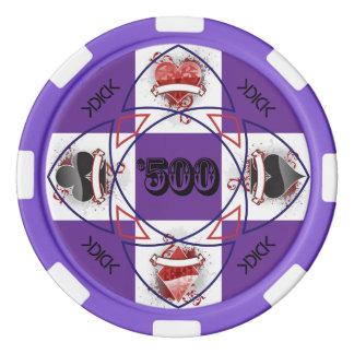 Jeton de poker de KDICK $500 Rouleau De Jetons De Poker