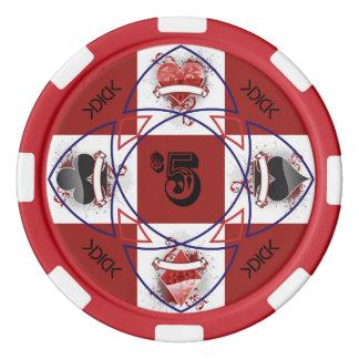 Jeton de poker de KDICK $5 Rouleau De Jetons De Poker
