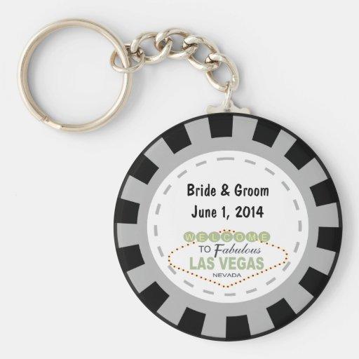 Jeton de poker Keychain de Las Vegas Porte-clefs